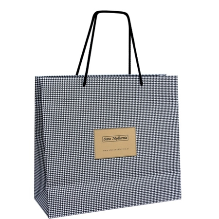 Gift bag houndstooth big