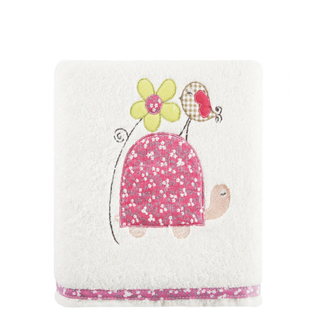 Towel Baby 6 Turtle 70x140 - cream + pink